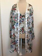 VTG VICTORIAS SECRET M/L Nightie Crop Cami With matching Night Shirt Floral