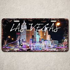 LP316 Las Vegas Sign Rust Vintage Auto License Plate Vacation Home Store Decor