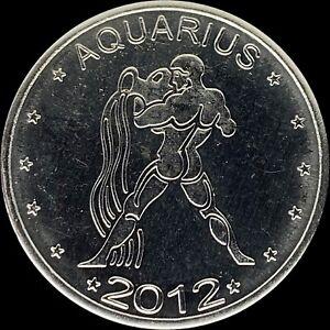 2012 Somaliland 10 Shillings - Zodiac Series - Aquarius - CH UNC PL