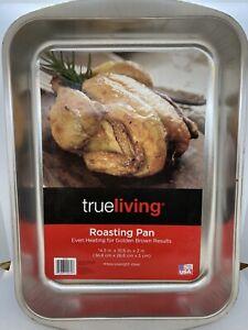 "True Living Roasting Pan 14.5"" x 10.5"" x 2"" Heavyweight Steel"