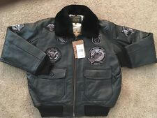 MENS SCHOTT G1 WINGS OF GOLD LEATHER BOMBER JACKET/ SIZE XL