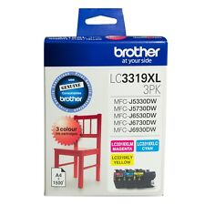 Brother Genuine LC-3319XL3PK C/M/Y 3 Inks Color Pack For J5330DW J5730DW J6530DW
