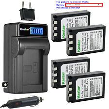 Kastar Battery LCD AC Charger for Olympus Li-10B Li-12B Li-10C & Camedia D-590