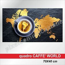 QUADRI MODERNI TELA CANVAS CAFFE' COFFEE BAR BRASILE WORLD 70X40