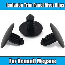 10x Clips For Fiat Renault Megane Isolation Trim Panel Rivet Clips Black Plastic