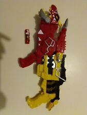 Power rangers Dino charge lot gun blaster morpher energem red tyranosaurus rex