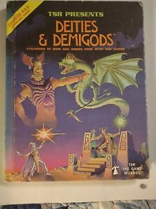 AD&D Deities & Demigods 144pgs by TSR (1980) Hardcover Dungeons And Dragons
