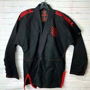 Black and Red Sanabul Gi   Large Unisex   BJJ MMA Judo UFC Jiu Jitsu   Size A4