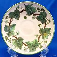 "Wedgwood Napoleon Ivy Demitasse Saucer 4-5/8"" Cream and Green Queensware"