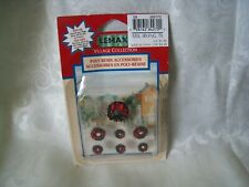 1998 Lemax Wreaths Village Collection Rare Retired Polyresin Accessories