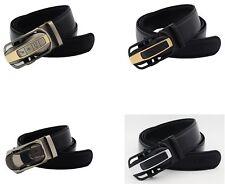 QHA Mens Designer Automatic Ferrari Style Car Belt Luxury Ratchet Auto Buckle