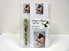 New Boxer Dog List Pad Note Pad Magnet & Pen Stationery Gift Pack By Ruth BOX-3