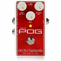 Electro-Harmonix EHX NANO POG Polyphonic Octave Generator Guitar Effects Pedal