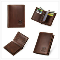 Genuine Leather Wallet RFID Blocking Credit Card Holder Purse Large Capacity