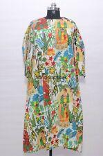 Designer Frida Kahlo Tunic Gown Women Apparel Wear Multicolored Long Kurti HB-12