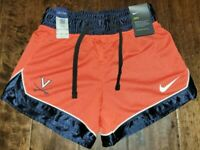 NEW Virginia UVA Cavaliers Women's Team Orange Shorts Nike Dri-Fit Size XS