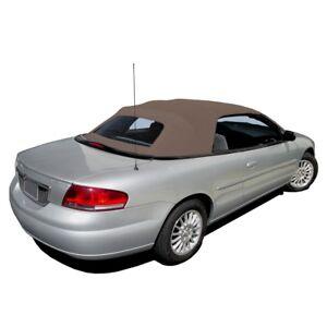 New Chrysler Sebring Convertible Soft Top & Plastic window Sandalwood Sailcloth
