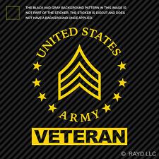E-5 Sergeant Veteran US Army Rank Sticker Die Cut Decal SGT OR-5 E5