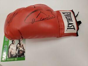 Canelo Alvarez & Sergey Kovalev signed Boxing Glove