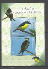 Antigua et Barbuda 2010 oiseaux bloc feuillet de 2 timbres neuf ** 1er choix