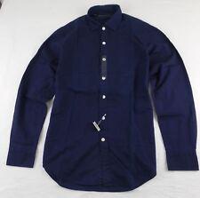 Ralph Lauren Men's BLACK LABEL DENIM Button Down Shirt Navy Poplin Slim Fit M