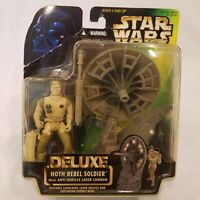 Kenner Star Wars Deluxe Hoth Rebel Soldier Action Figure Sealed NEW