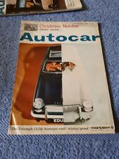Autocar Magazine 24 December 1965 - Christmas Number, Ghost Story