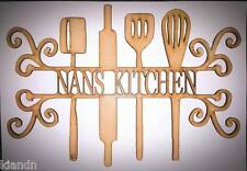 "Personalised"" Kitchen Utensil"" 3MM MDF blank craft Plaque/sign"