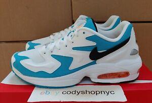 Nike Air Max2 Light White Blue Lagoon size 10.5 UCLA Miami Sneakers AO1741-100
