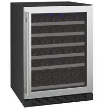 Allavino 56 Bottle Built-In Wine Cooler Refrigerator Stainless Steel Glass Door