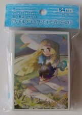 Japanese Pokemon Official Premium Sleeve, Lillie and Cosmog (64 Sleeves) Sealed