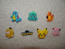 Pikachu Squirtle Shoe Charms Plug Button Clogs Wristband Bracelet Accessory NEW