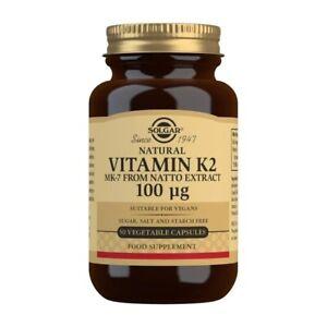 Solgar - Vitamine K2 (MK-7) 100ug X 50 Végétarien Capsule