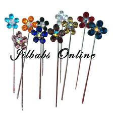 10  Crystal Flower Diamante  Hijab Scarf Brooch Pins