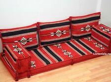 Red Black Floor Sofa Couches Arabic cushions Turkish Seat Indoor Outdoor Fabric