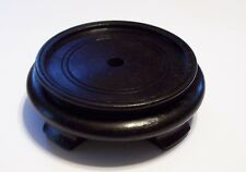 """3 1/2"""" FOOTED ORIENTAL WOODEN LAMP BASE WITH BLACK FINISH NEW 10251BJB"""