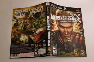 Mercenaries 2 l`enfer des favelas PS2 replacement cover art insert only!