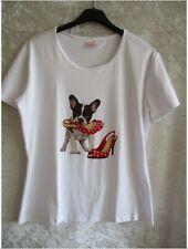 Damen,T-Shirt,Weiss,Druckmotiv,Gr.36,Figurbetont