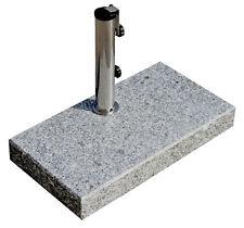 Sonnenschirmständer 25 kg, Schirme bis Ø200cm Granit-Balkonschirmständer eckig