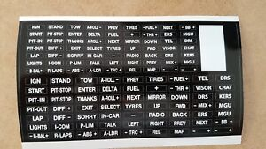 BLACK   sim racing button box and wheel stickers for iracing, asserto Corsa etc