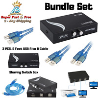 Usb A to B Printer Cable 2.0 Manual Scanner Copier Printer Switch Hub