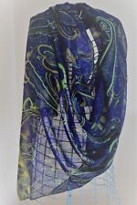 PASHMINA SHAWL/WRAP BLUE/GREEN/MULTI WEDDING CRUISE HOLS #8A
