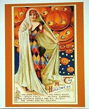 *UNUSED* Halloween Postcard: *The Magic Of Halloween* Vintage Image~Reproduced