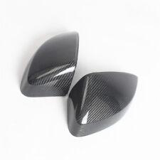 L+R Carbon Fiber Black Rearview Door Mirror Cover Housing For AUDI A3 S3 2013-17