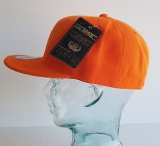 KB ETHOS FITTED PLAIN CAP FLAT PEAK BNWT HIP HOP SNAPBACK/BASEBALL CAP ORANGE