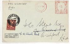 AN123 1957 GB Kent Maidstone Cover. Dog licences