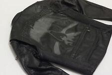 Harley Davidson Mens RUSHMORE Skull Black Leather Jacket M REFLECTIVE 97188-10VM