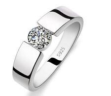 925 Silber Ring Damenring Herrenring Herren Damen Zirkonia Ehering Trauringe Neu