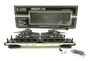 K-Line O K-6995 BNSF Classic Flat Car 1996 w/2 Solido Tanks France ~EC~ T194