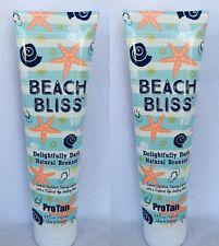 2 Pro Tan Beach Bliss Dark Natural Bronzer Indoor Tanning Lotion 9 oz NEW